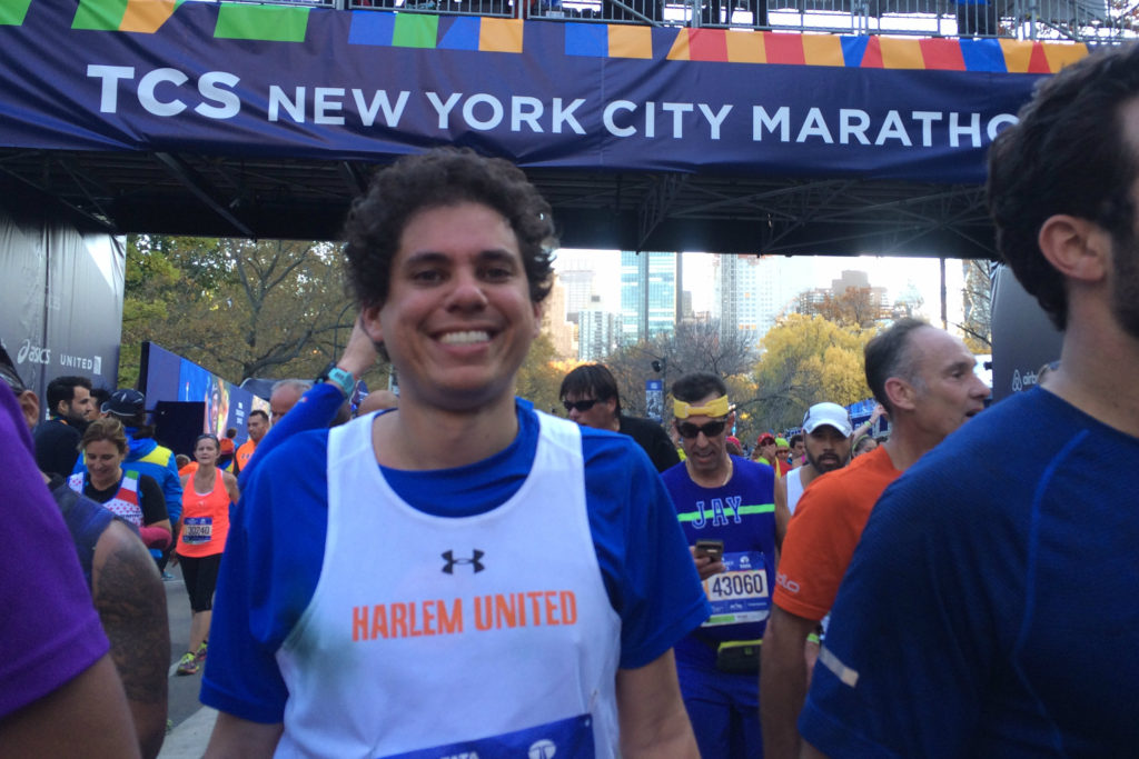 Harlem United runner Armin at the TCS NYC Marathon