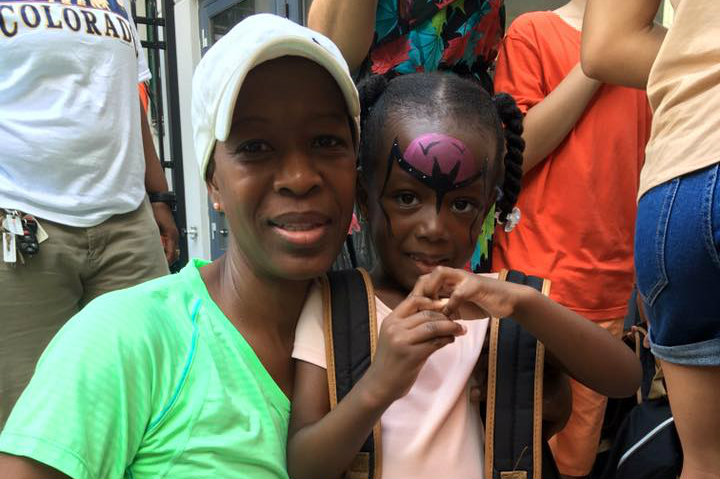 Harlem United's back-to-school party and school supply giveaway