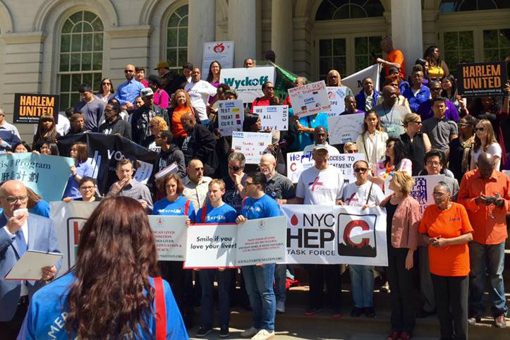 Harlem United at a rally for Hepatitis C awareness