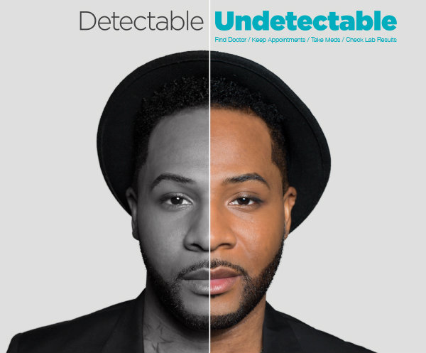 """Undetectable"" ad from New York State Dept. of Health"