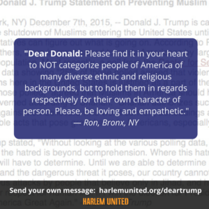 A message to Donald Trump about not judging others based on their religion