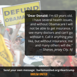A message to Donald Trump about the importance of Obamacare
