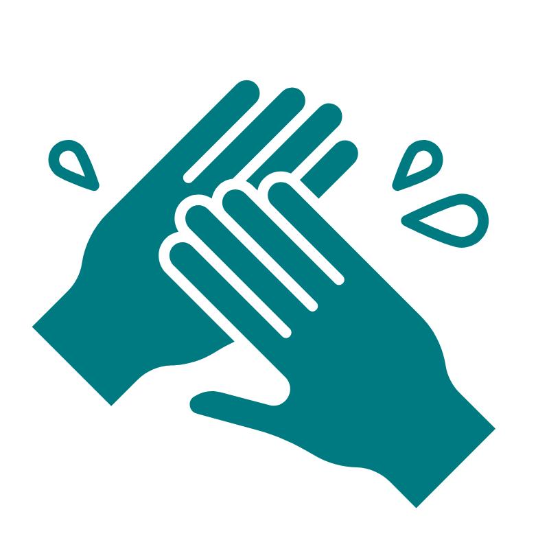 Icon of handwashing