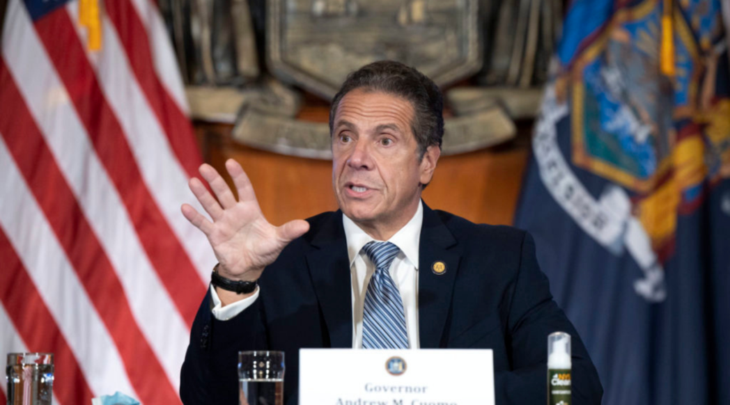 Governor Cuomo speaking publicly
